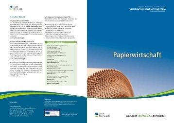 Papierwirtschaft - Wirtschaft – Stadt Eberswalde