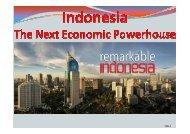 Presentation Indonesian Economy 2013