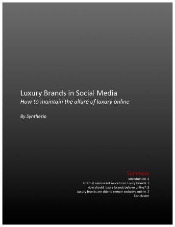 Luxury Brands in Social Media - Synthesio