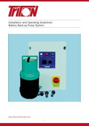 Installation and Operating Guidelines Battery ... - Triton Chemicals