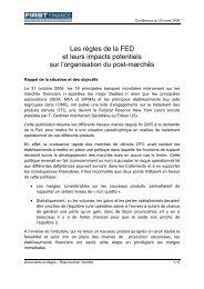 Les règles de la FED et leurs impacts potentiels sur l ... - First Finance