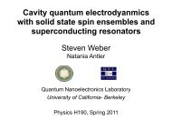 Cavity quantum electrodyanmics with solid state spin ensembles ...