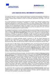 los vascos en el movimiento europeo - Eurobask
