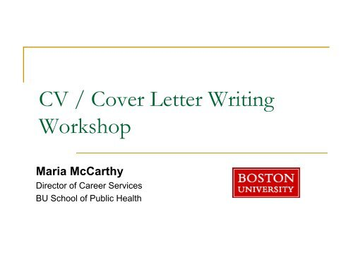 FREE Resume and Cover Letter Writing Workshop