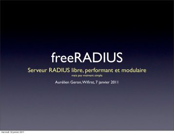 Présentation de RADIUS, EAP et FreeRADIUS - 3ème partie