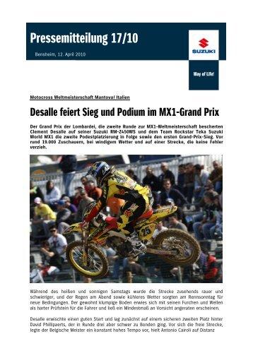 Motocross Weltmeisterschaft Mantova / Italien - Suzuki