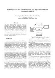 Modelling of Real-Time Embedded Systems in an Object ... - IDA
