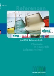 Referenzen - ABAS Software AG