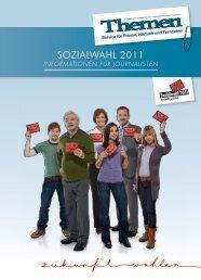Informationen für Journalisten ( PDF , 1.7 MB ) - Sozialwahl 2011