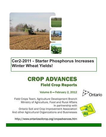 Starter Phosphorus Increases Winter Wheat Yields! - Ontario Soil ...