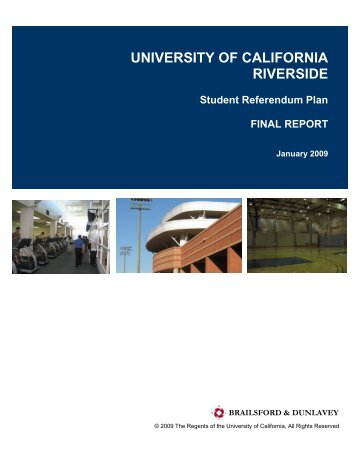 Student Referendum Plan -2009 - Capital Resource Management