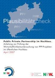 Anleitung zur Prüfung der Wirtschaftlichkeitsuntersuchung von PPP ...