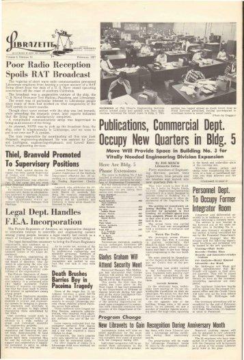 February, 1957 Librazette - Librascope Memories