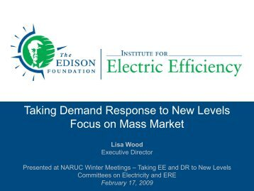 Taking Demand Response to New Levels - Edison Foundation