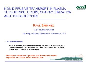 non-diffusive transport in plasma turbulence - ENEA - Fusione