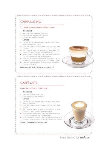 CAPPUCCINO CAFFÈ LATTe - Lavazza - A Modo Mio Store