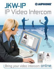 AIPHONE JKW-1P IP Color Video Intercom Systems