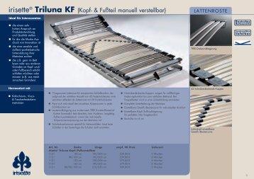 irisette® Triluna KF (Kopf- & Fußteil manuell verstellbar)