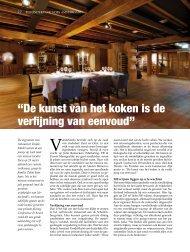 Lees het hele artikel in PDF - Restaurant VandeMarkt
