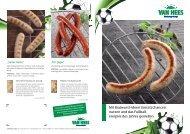 Mit Bratwurst-Ideen Umsatzchancen nutzen und ... - Van Hees GmbH