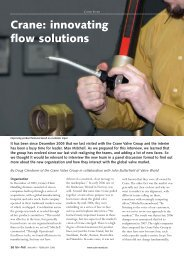 Crane: innovating flow solutions - Valve World