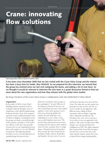 Crane: innovating flow solutions - Valve World
