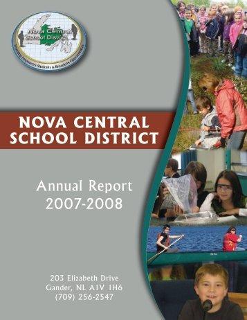 Annual Report 2007-08 - Nova Central School District