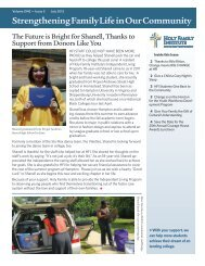July 2012 Newsletter - Holy Family Institute
