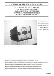 CBSW1 NA 24V 13A IUIa Wet/Gel ELECTRONIC BATTERY ...
