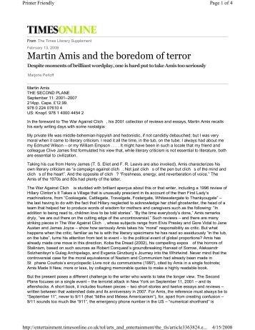 Martin Amis and the boredom of terror