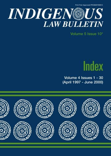 Download ILB Index - Indigenous Law Centre - University of New ...
