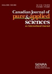 Feb-12 - Canadian Journal of Pure and Applied Sciences