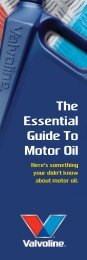 The Essential Guide To Motor Oil - Valvoline