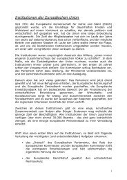 Institutionen der Europäischen Union - Examen Europaeum
