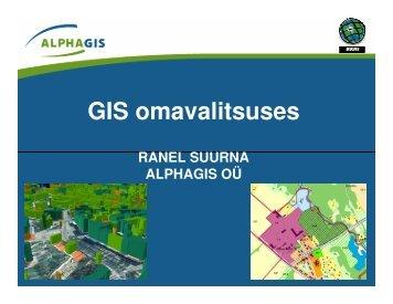 GIS omavalitsuses