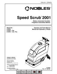 SpeedScrub 2001_Nobles Operation and Parts Manual