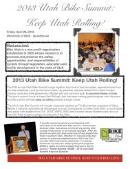 2013 Summit Sponsorship Package - Bike Utah