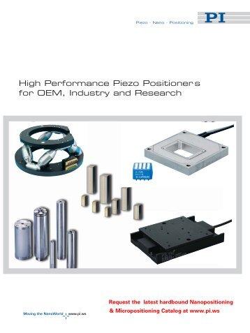 Piezoelectric Actuators for Nanopositioning - PZT & Piezo Actuators ...