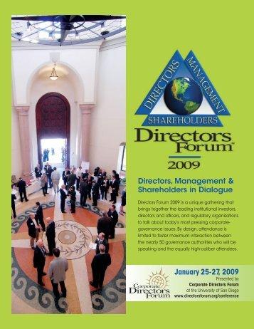 Keynote Speakers - Corporate Directors Forum