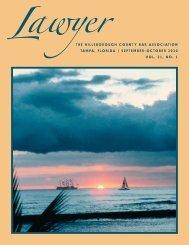 September - October 2010 Lawyer Magazine - Hillsborough County ...