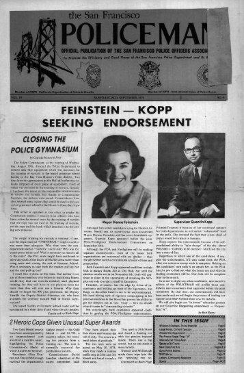 September 1979 - San Francisco Police Officers Association