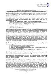 """Übersicht zu dem Diskussionsentwurf zum """"Gesetz zur Novellierung ..."""