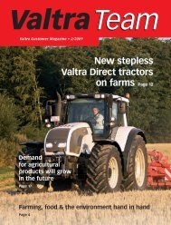 New stepless Valtra Direct tractors on farms Page 12