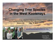 Changing Tree Species in the West Kootenays - Kootenayresilience ...