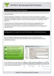 ERRICHTERTIP: Benutzung des Net2 Timesheet