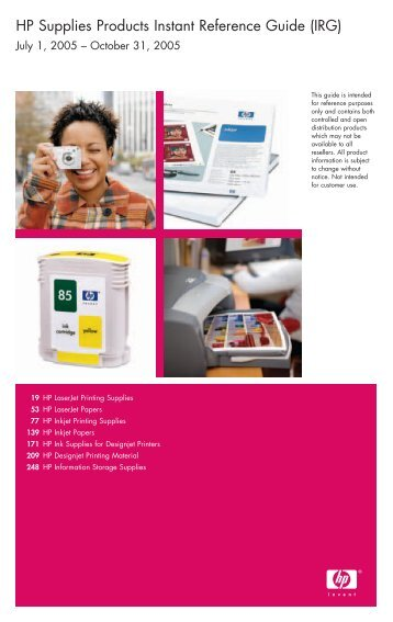 hp printing and digital imaging products instant reference guide irg rh yumpu com hp instant part reference guide Clip Art Reference Guide