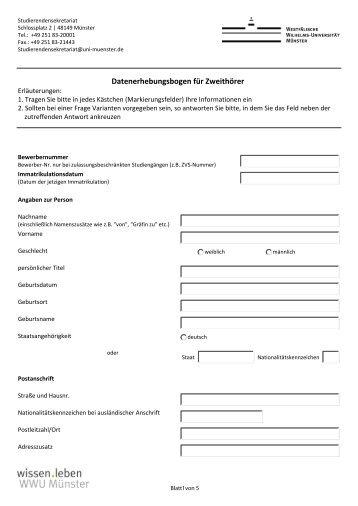 Zum Antragsformular - Westfälische Wilhelms-Universität Münster