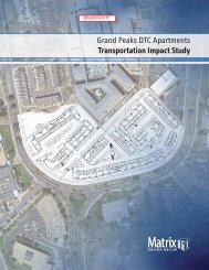 Grand Peaks DTC Apartments Transportation Impact Study