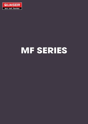MF SERIES - Stroje