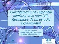 Cuantificación de Legionella mediante real time PCR ... - CRESCA